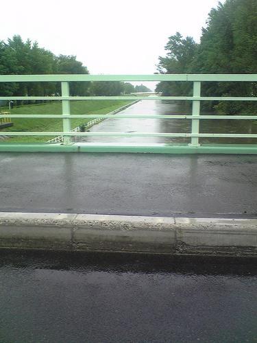 氾濫寸前の創成川